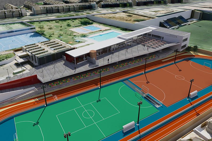 Sca finalizada obra de reforma del polideportivo for Piscina tomares